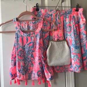 Lilly Pulitzer skirt set! Vibrant and fun! Size 6